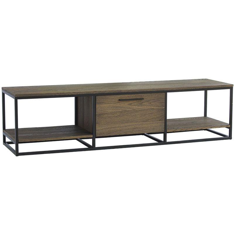 mueble para tv de madera y hierro buscar con google mesas tv muebles