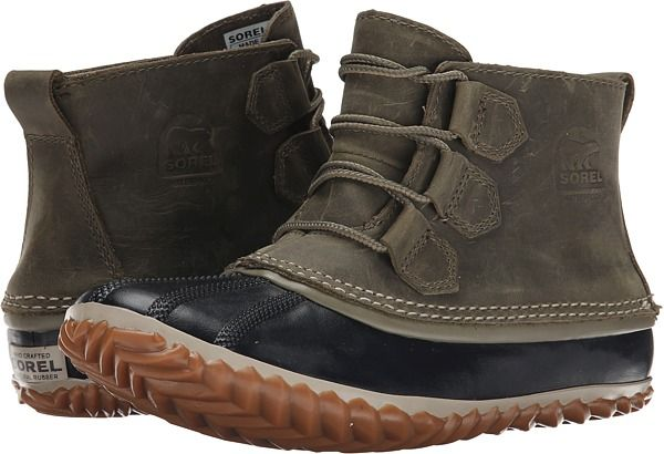 SOREL Out 'N About™ Leather Sage/Black - Zappos.com