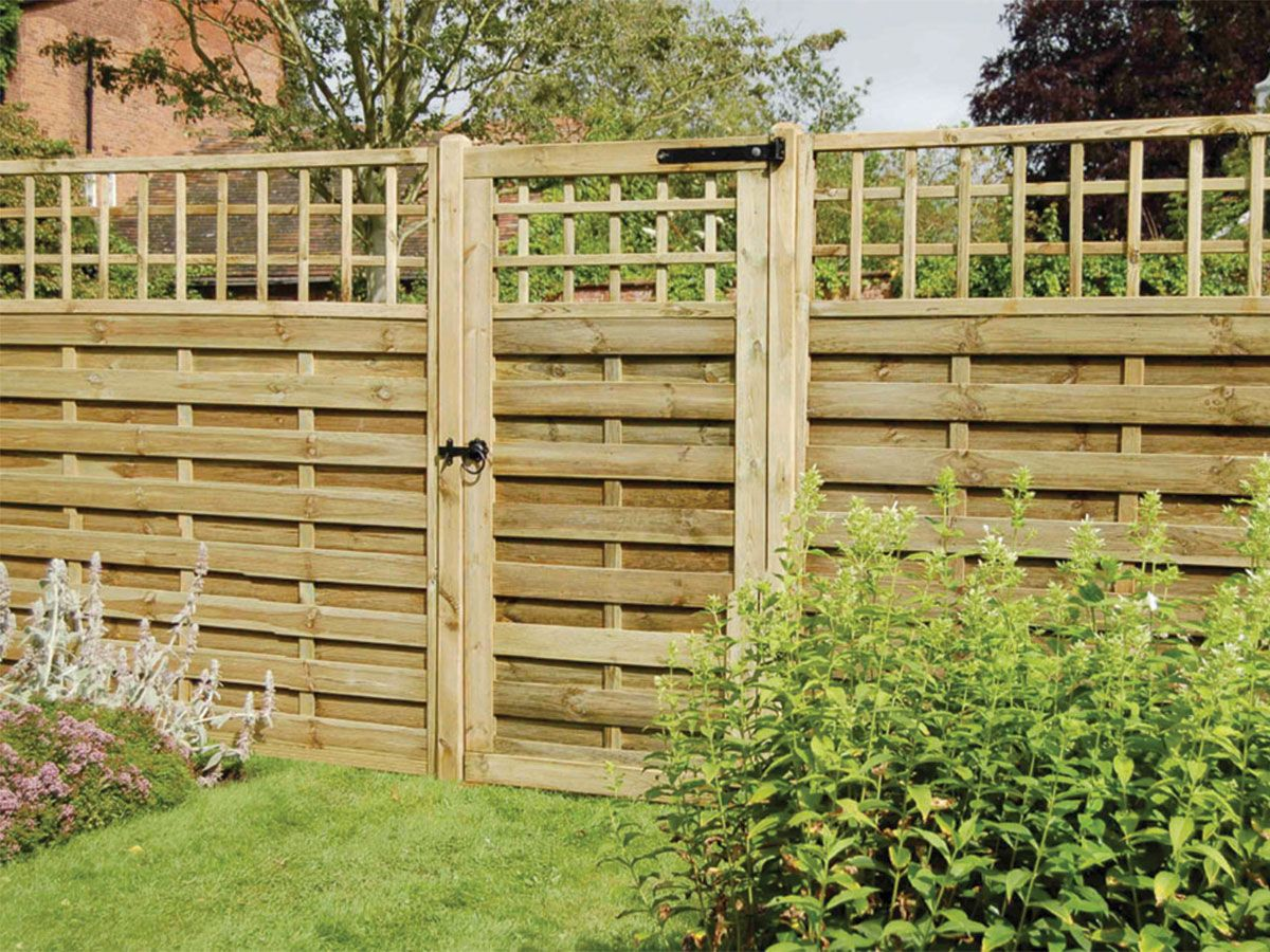 The attractive Monte Carlo 1.8m fence panels and 1.8m x 0.9m gate ...