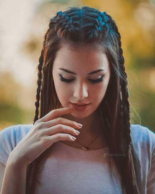 Geflochtene lange Frisuren für Frauen #coiffure
