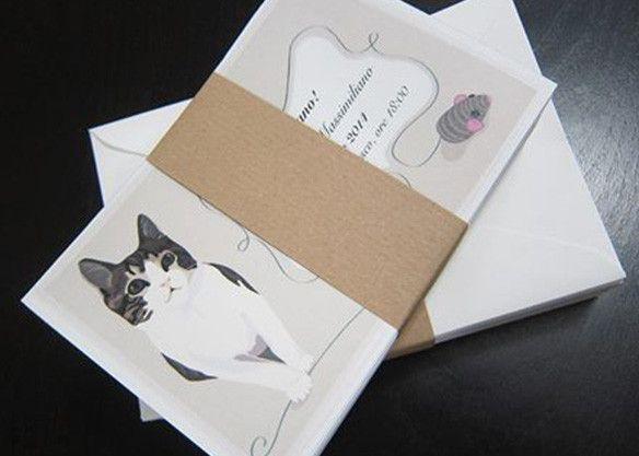 Partecipazioni Matrimonio Gatti.Partecipazioni A Scheda Con Illustrazione Gatto Illustrazioni