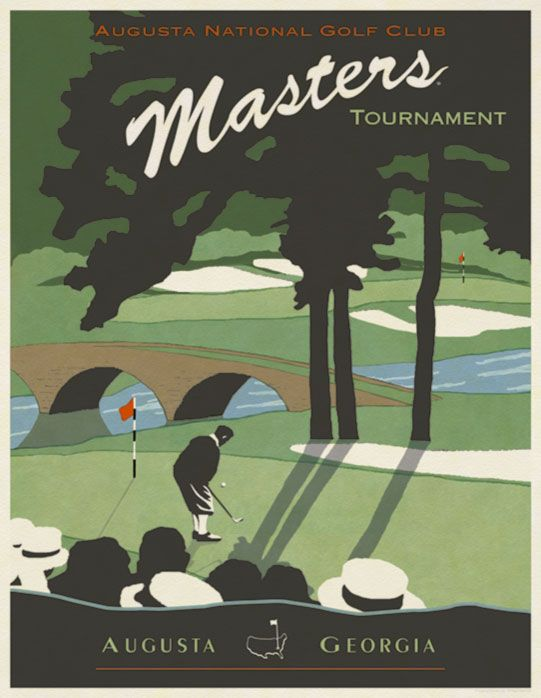 Masters Shop The 11th Hole Vintage Poster Golf Art Golf Poster Golf Clubs