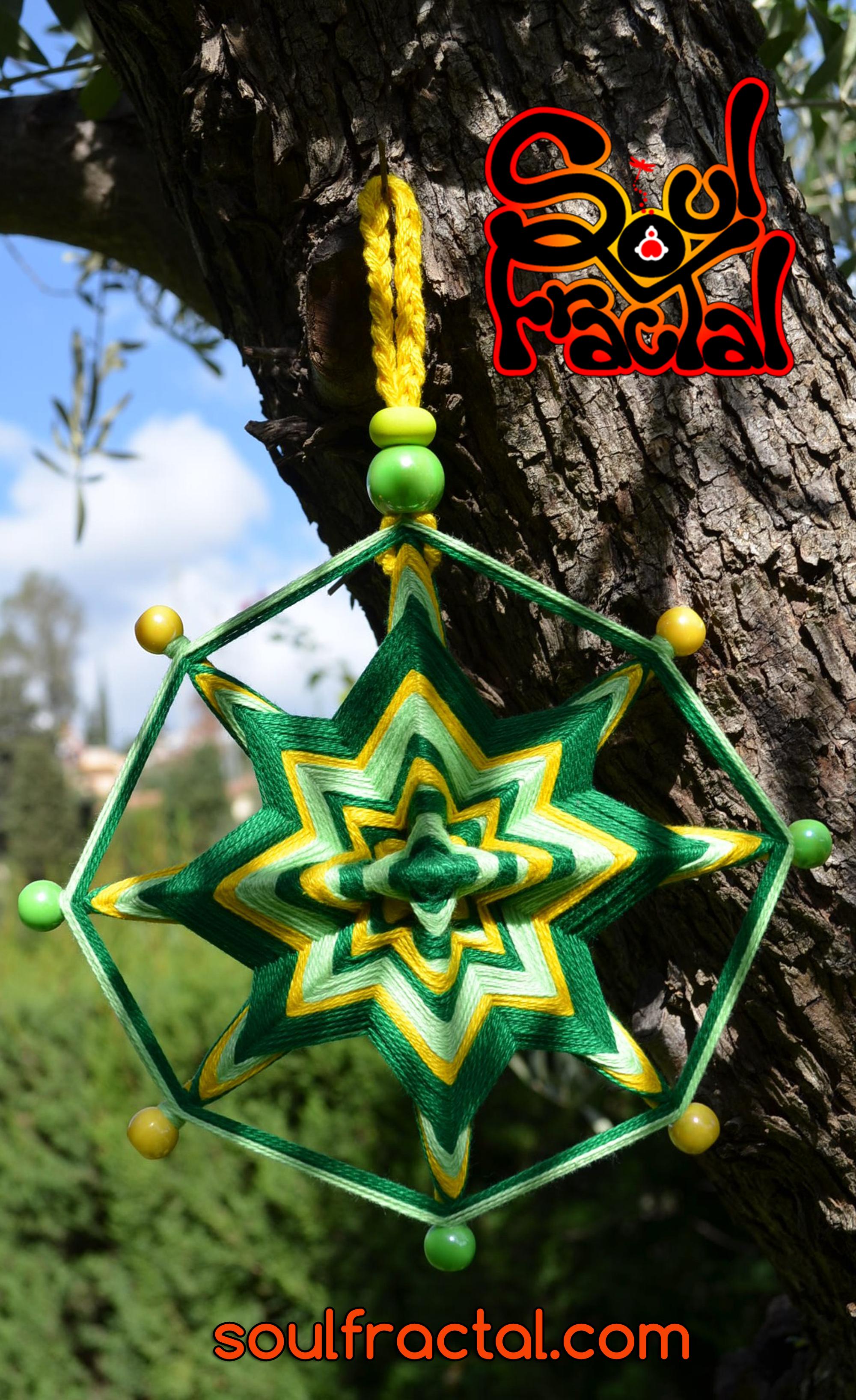 Mandala de 8 puntas tejido con hilo de algodón puro egipcio ❥ Para interior y…
