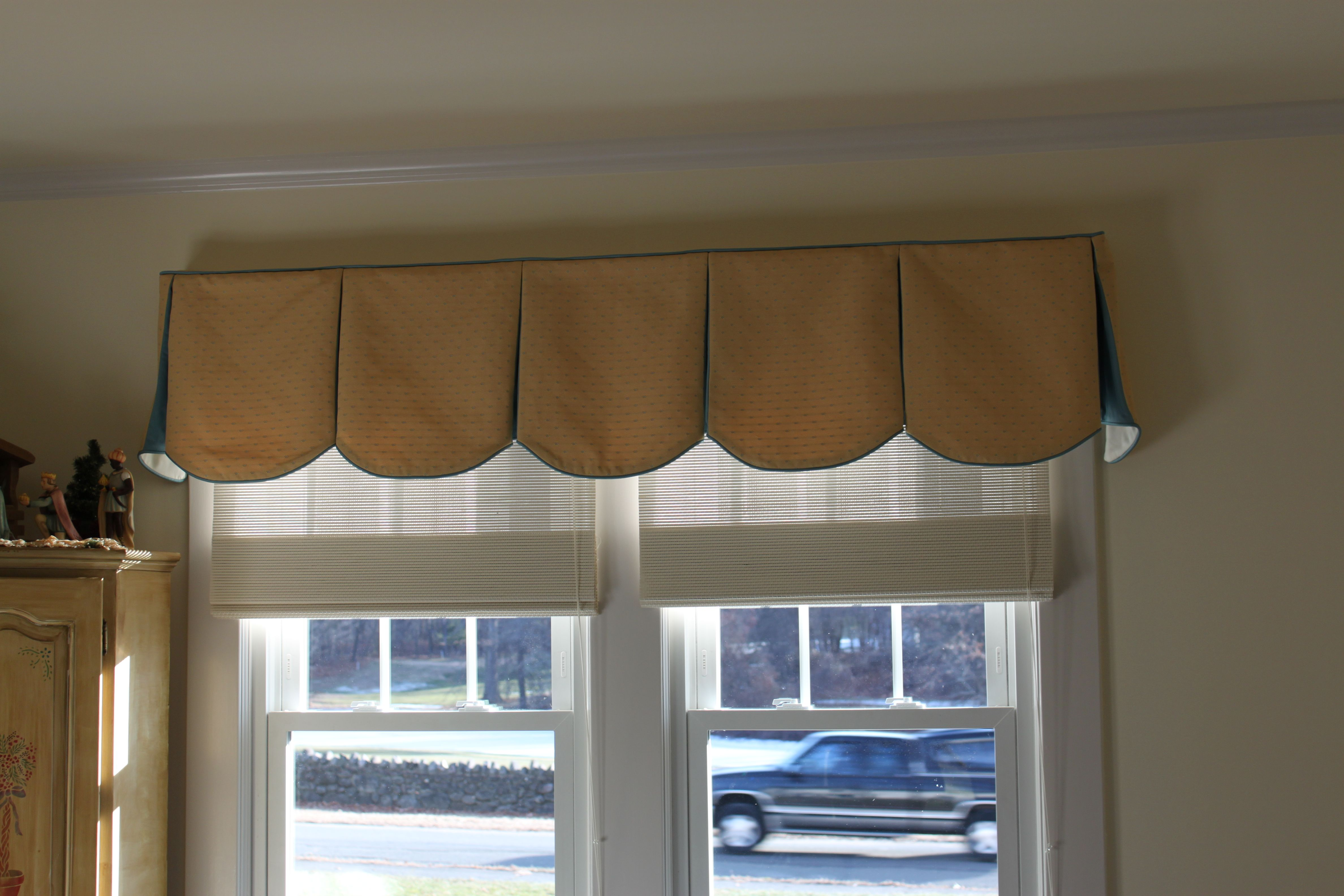 Scalloped Pleated Valance