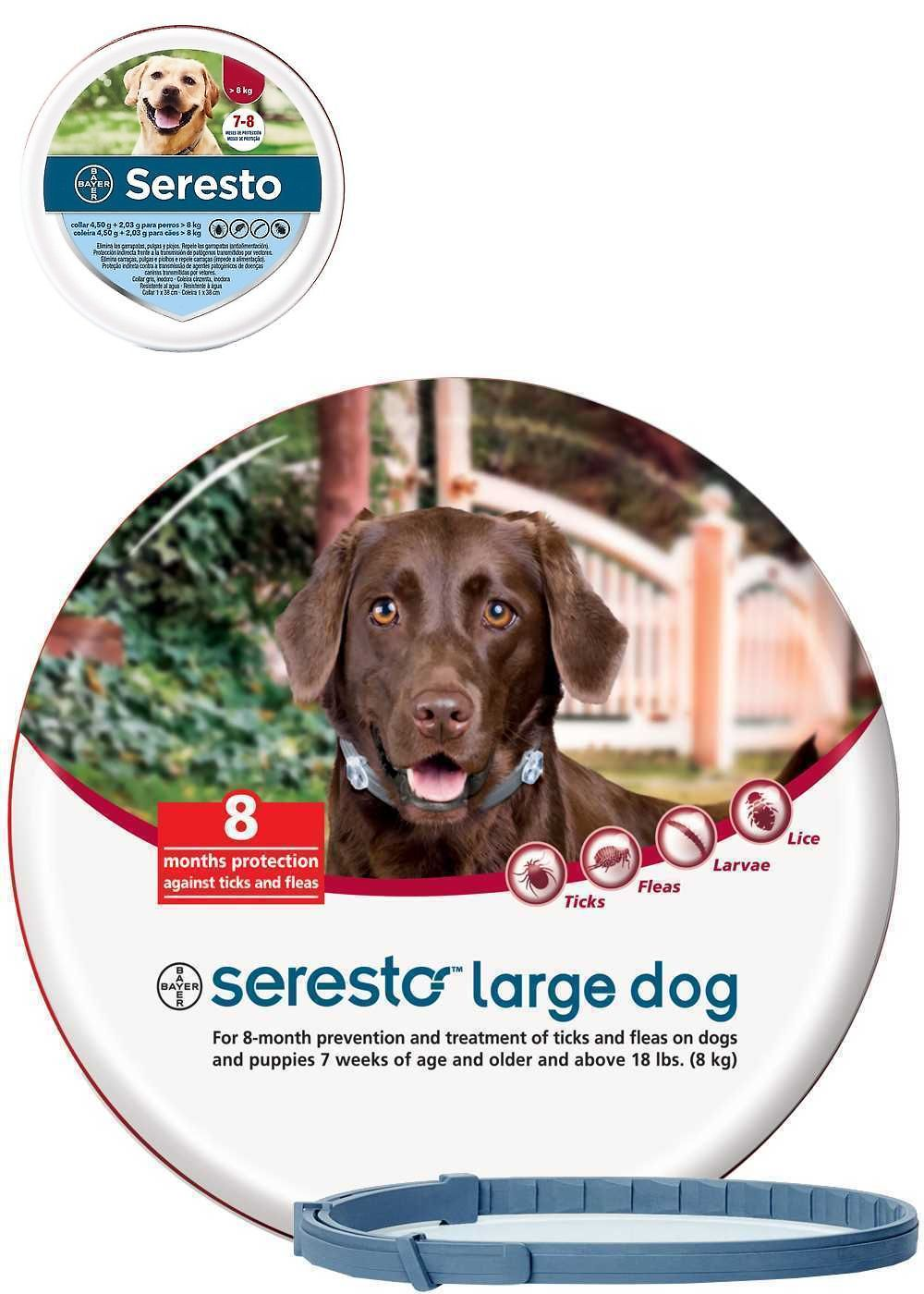 Collars 63057 2018 Bayer Seresto Flea And Tick Collar For Large Dogs Over18lbs 8kg Buy It Now Only 25 59 On Ebay Large Dogs Flea And Tick Fleas