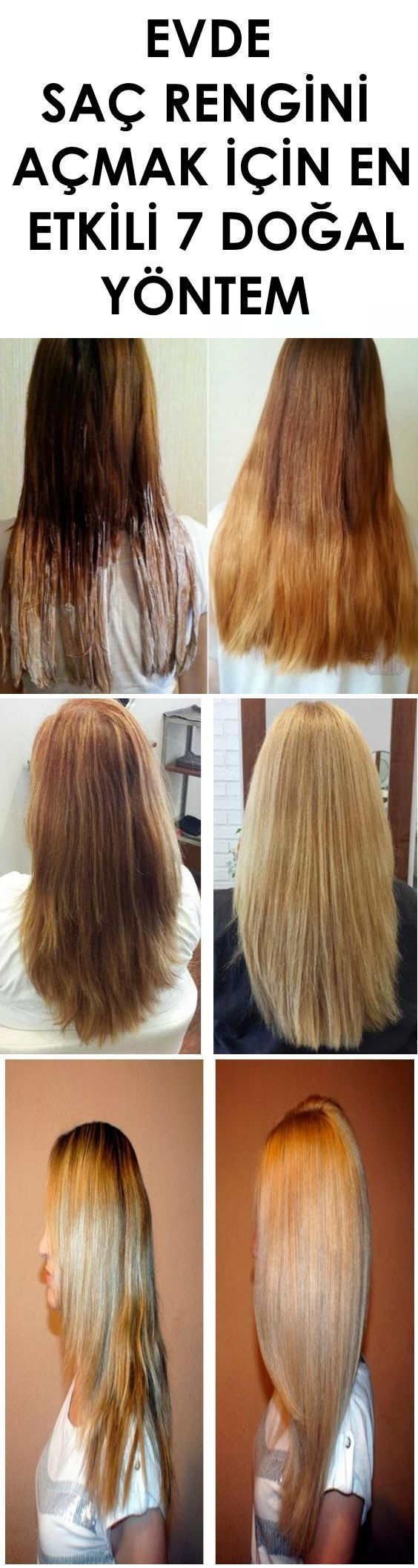Doğal yöntem İle Saç Rengini Açmak
