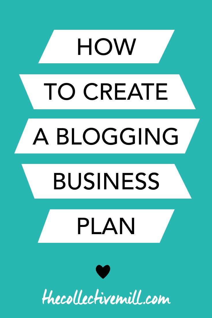How to Create a Blogging Business Plan | Business planning, Free ...