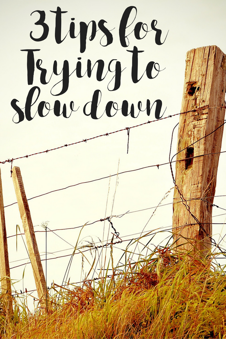 3 Tips for Trying to Slow Down | Simply Happy Mama | New moms, Tips