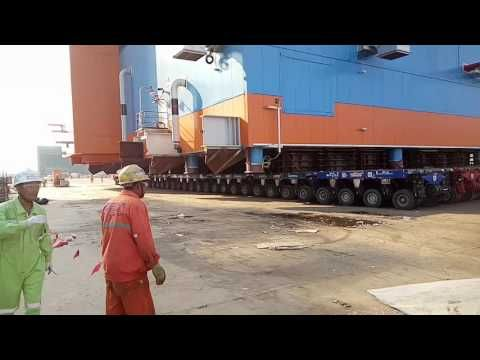 How huge Yamal modules are moved
