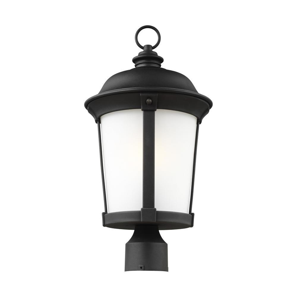 Calder 1 Light Outdoor Black Post Light With Led Bulb Outdoor Post Lights Lantern Post Lanterns