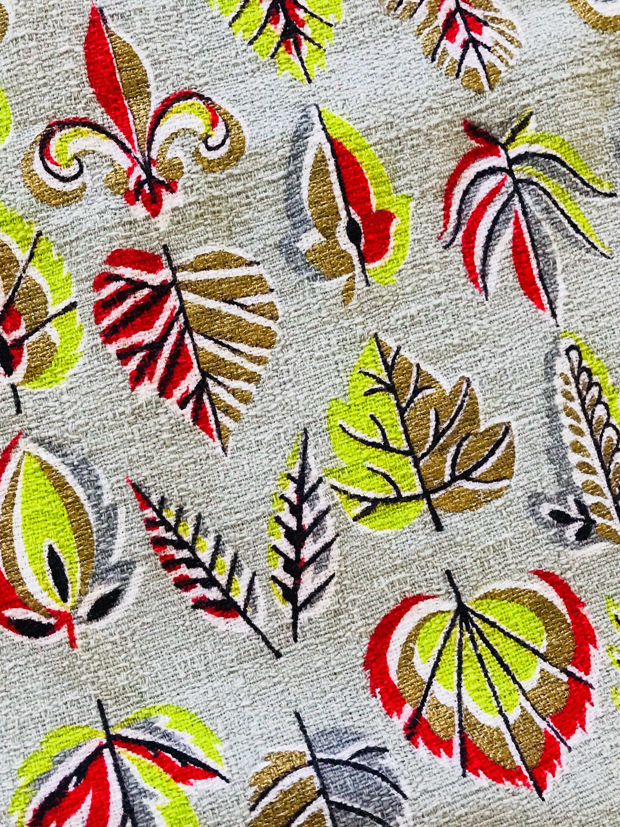 All Things Christmas Fabric Holly Leaves Berries Yellow Red Rooster YARD