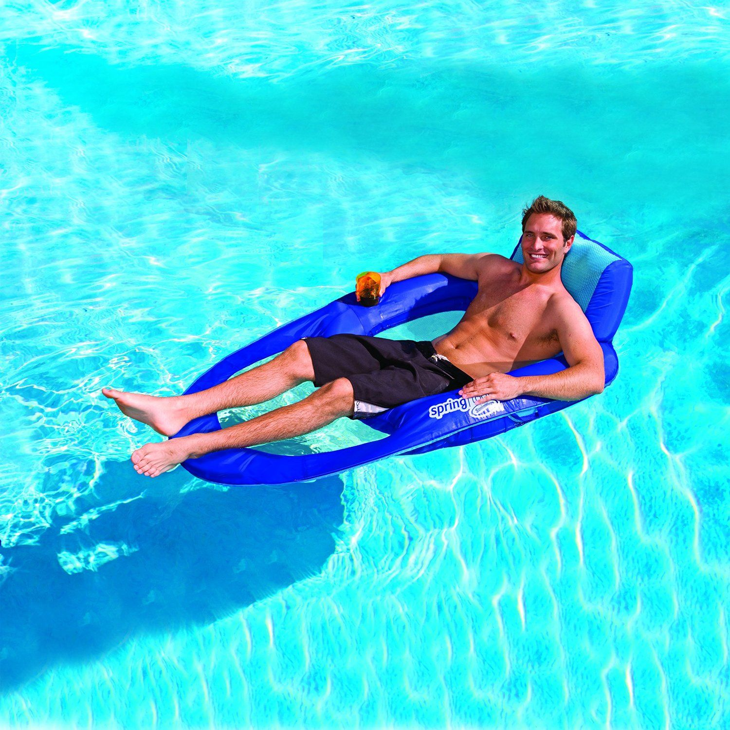 inflatable pool furniture. Amazon.com: SwimWays Spring Float Recliner XL: Toys \u0026 Games. Pool ChairsInflatable Inflatable Furniture B