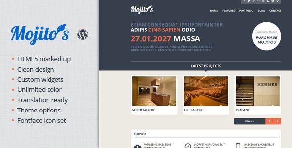 Mojitos Creative portfolio WordPress Theme Download @mywpthemes_xyz ...
