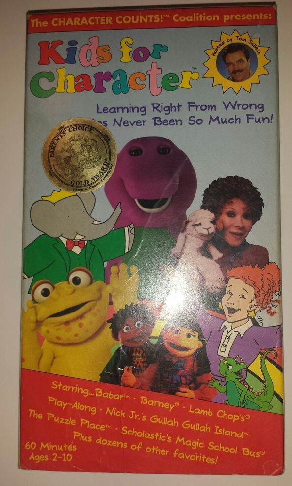 kids for character vhs barney magic school bus rainbow babar gullah lamb chop creative play. Black Bedroom Furniture Sets. Home Design Ideas