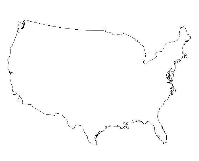 Blank Maps Of The US And Other Countries Outlines Tattoo - Blank map of the us printable