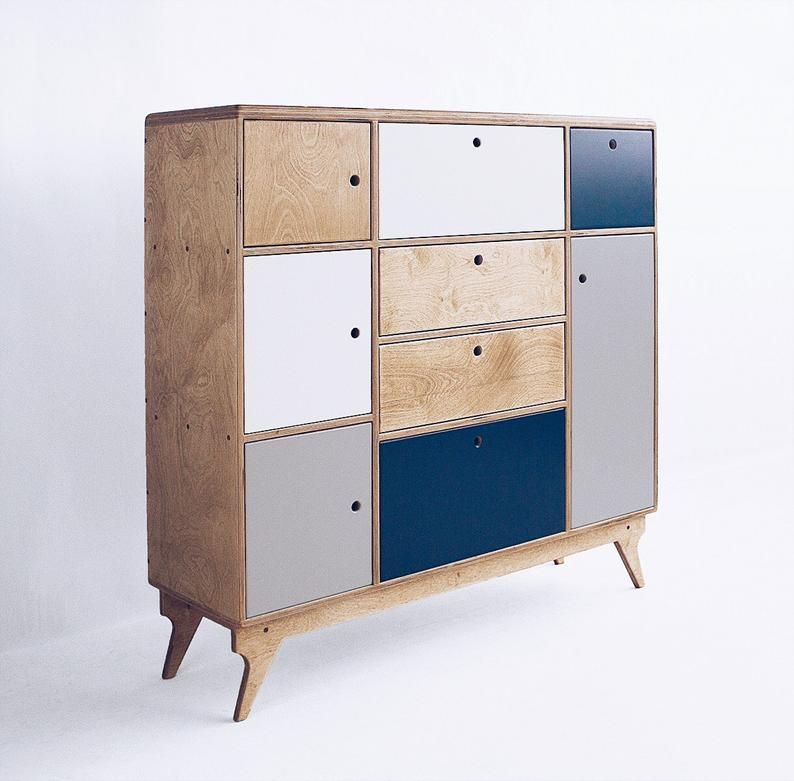 Bliss 2 Handmade Plywood Chest Of Drawers Etsy In 2020 Scandinavian Chest Of Drawers Made To Measure Furniture Small Space Interior Design