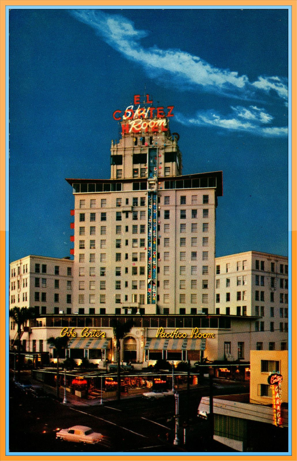 1950s El Cortez Hotel Sky Room San Diego