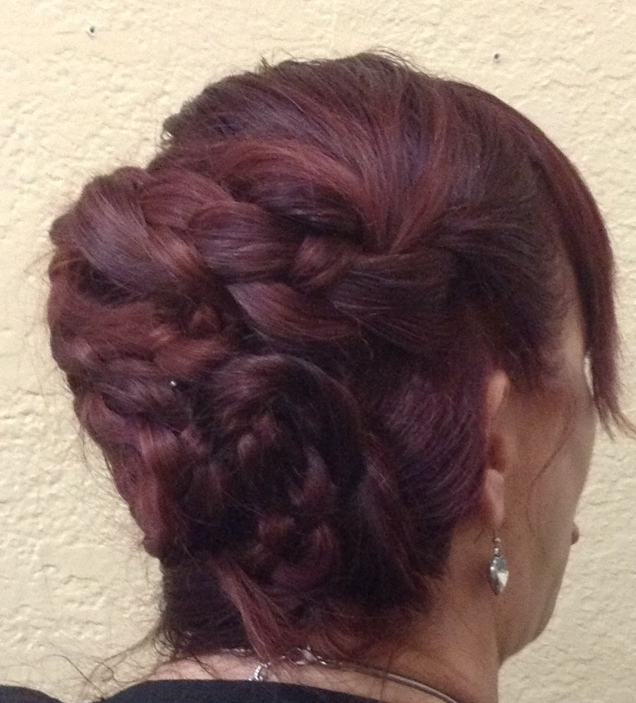 DIY UPDO... Take 3 Ponytails, Braid, Twist , & Pin In