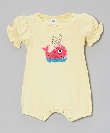 Love this Yellow & Pink Whale Romper - Infant on #zulily! #zulilyfinds