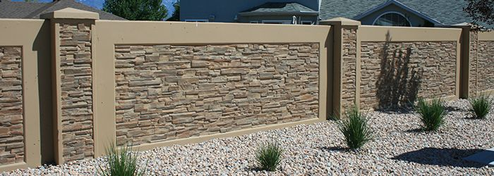 Residential concrete block fence forms decorative fencing pinterest privacy fence panels - Decorative concrete wall forms ...