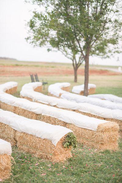Southern Wedding Haybale Seating
