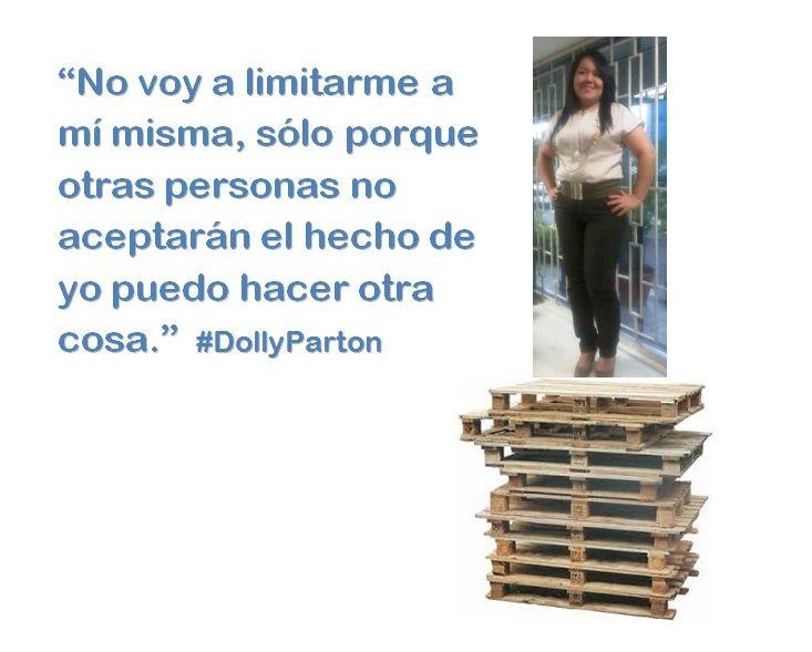 """""""No voy a limitarme a mí misma, sólo porque otras personas no aceptarán el hecho de yo puedo hacer otra cosa.""""  #DollyParton"""