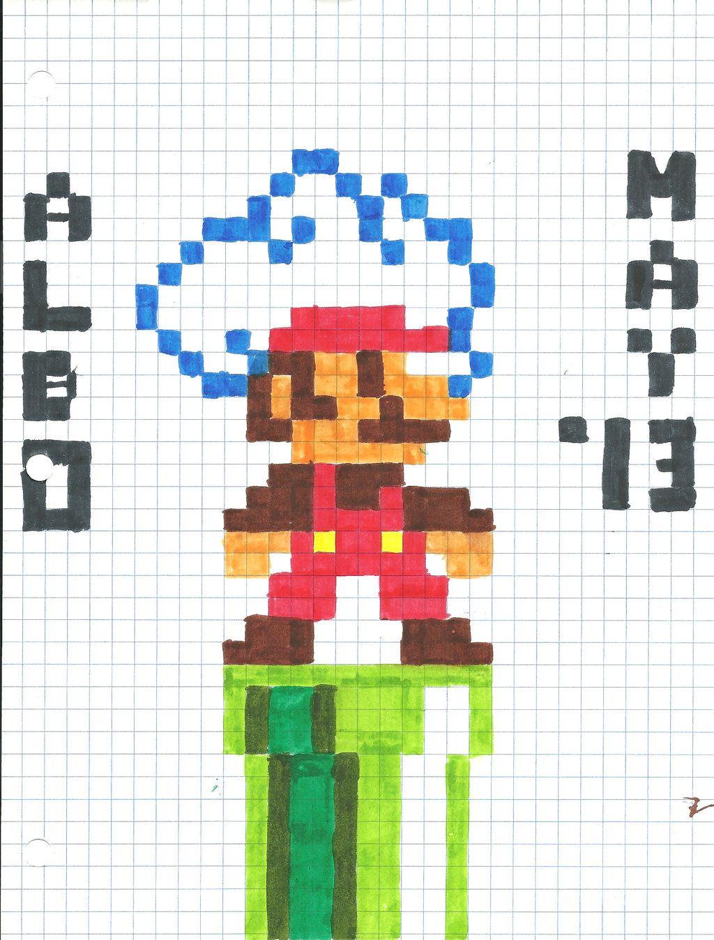 Graph Paper Art Mario