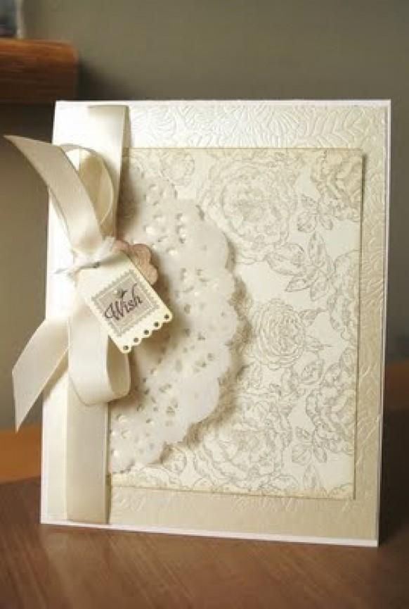 Weddbook ♥ Cheap, white scrapbook wedding invitation with satin rib ...