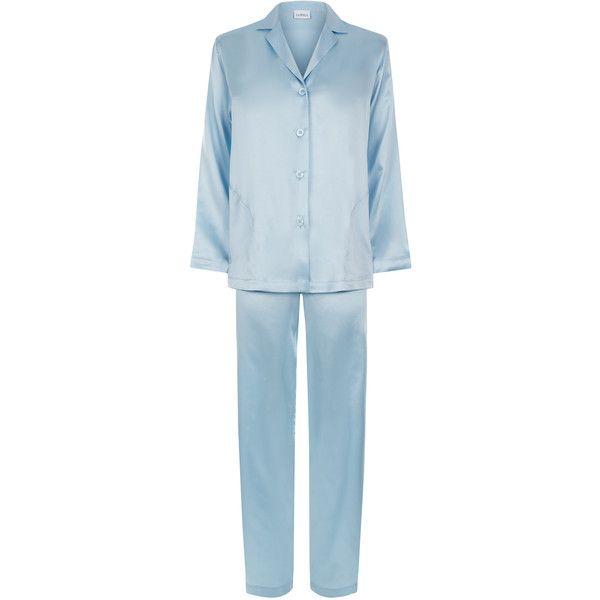 La Perla Silk Silk Satin Pyjama ( 398) ❤ liked on Polyvore featuring  intimates 4e5f7b8ba