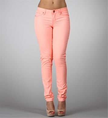 Neon Orange Skinny Jeans | Fashion Faves | Pinterest | Neon, Peach ...