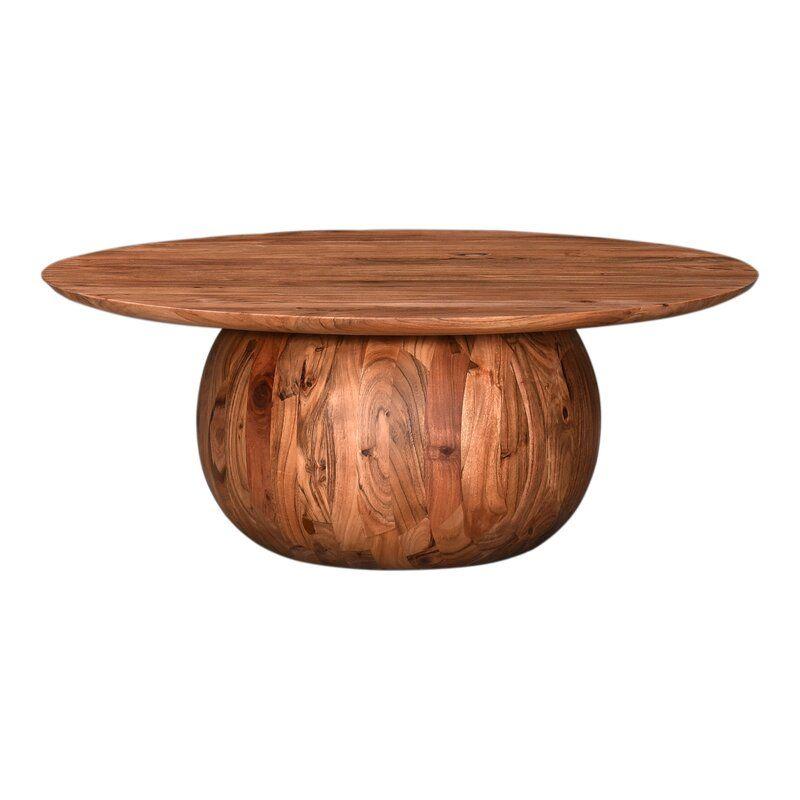 Daijon Solid Wood Block Coffee Table Allmodern Circular Coffee Table Drum Coffee Table Coffee Table
