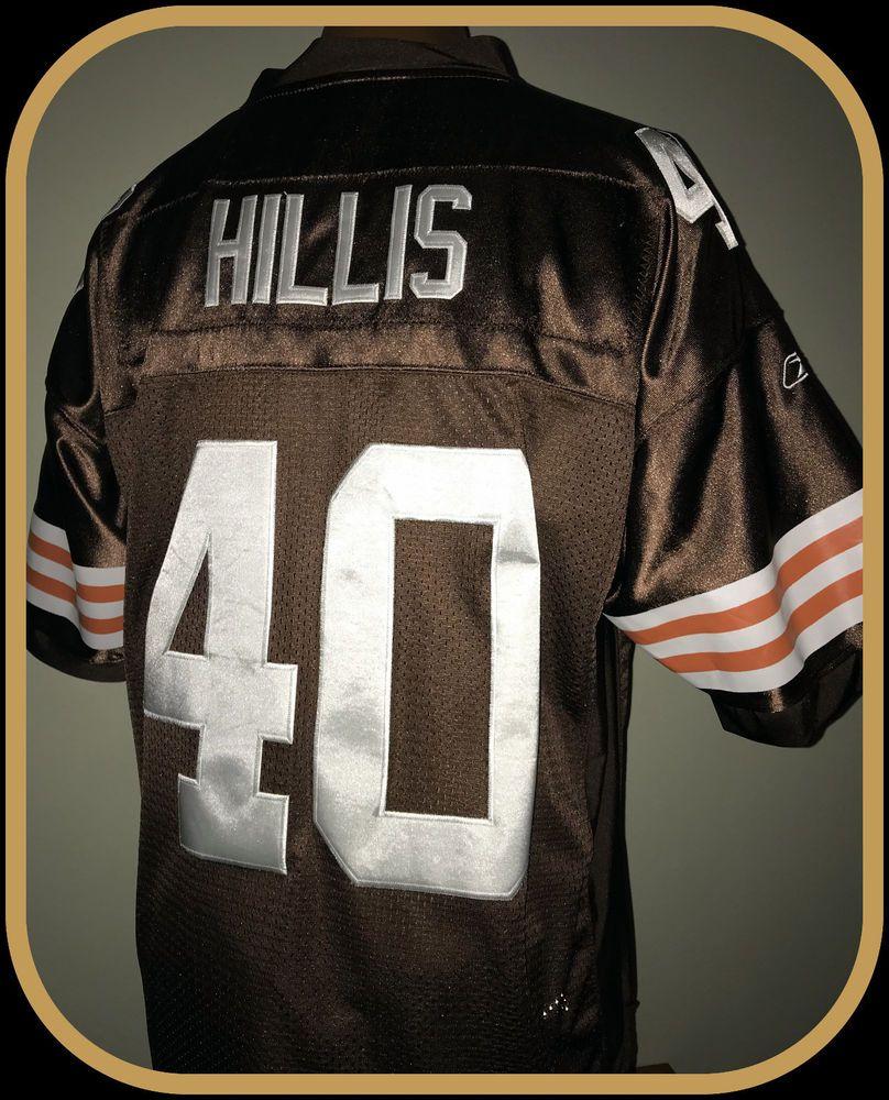 7e41cb491dd CLEVELAND BROWNS PEYTON HILLIS REEBOK STITCHED ON FIELD JERSEY ADULT SIZE  52 #Reebok #ClevelandBrowns
