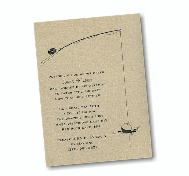 Gone Fishing Retirement Party Invitation  Party