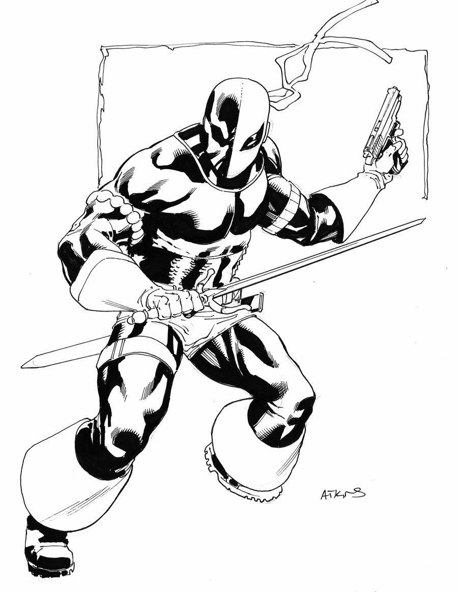 Marvel Deadpool Ausmalbilder Gratis: Deathstroke By Robert Atkins
