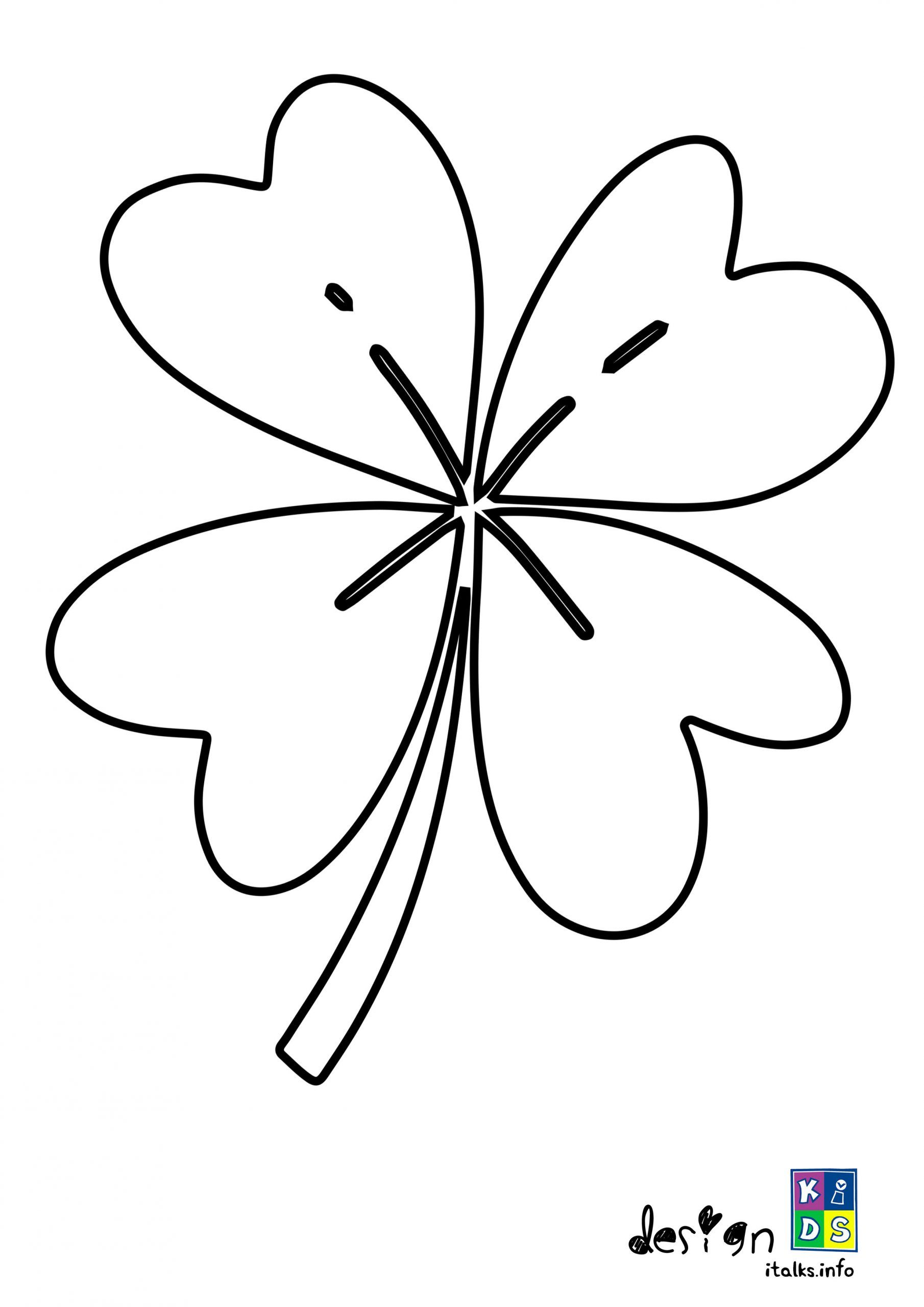 Shamrock Coloring Page in 2020 Coloring pages, Free
