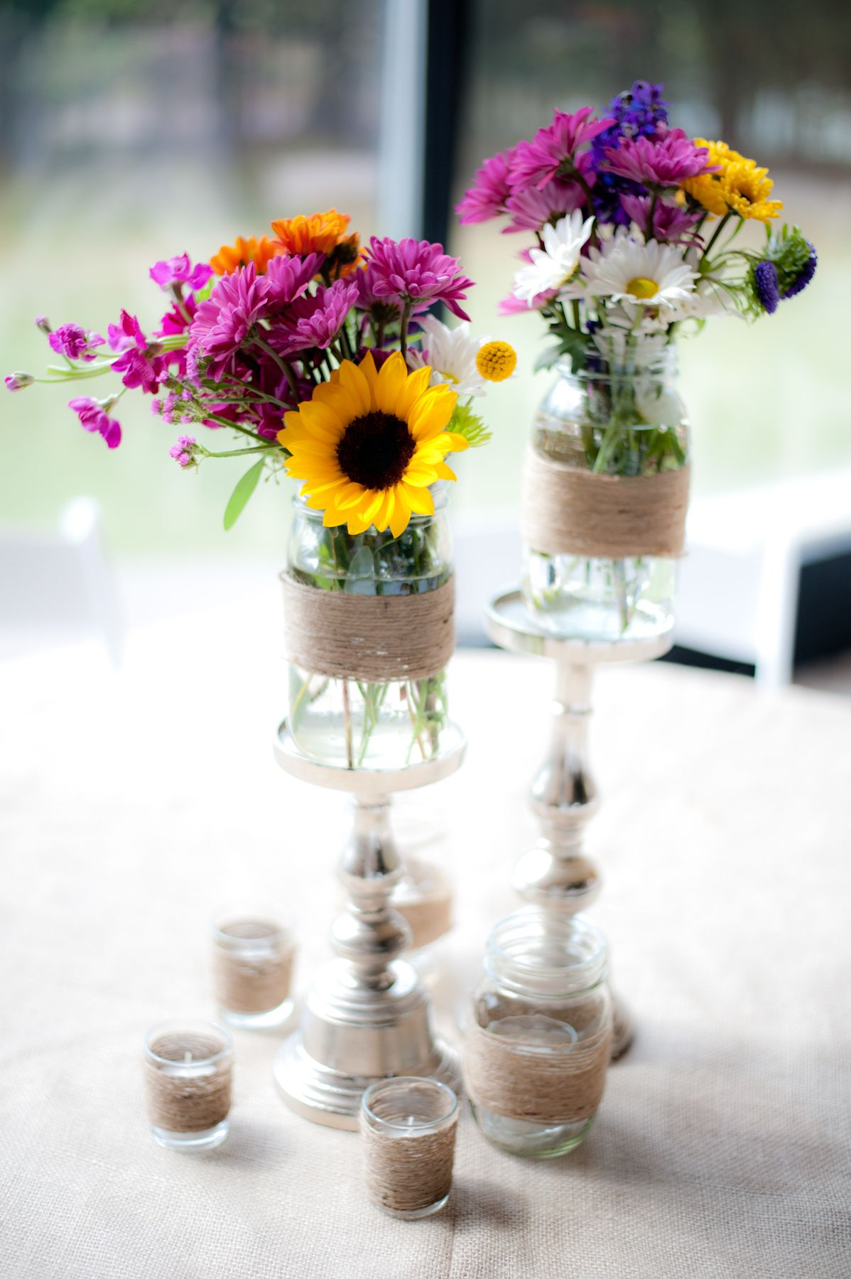 mason jar centerpiece | sunflower centerpiece| country centerpiece ...