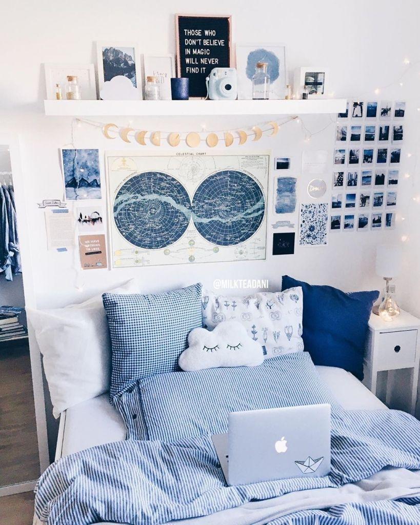 blue room decor on 30 room decor inspiration in 2020 redecorate bedroom blue room decor dorm room decor 30 room decor inspiration in 2020