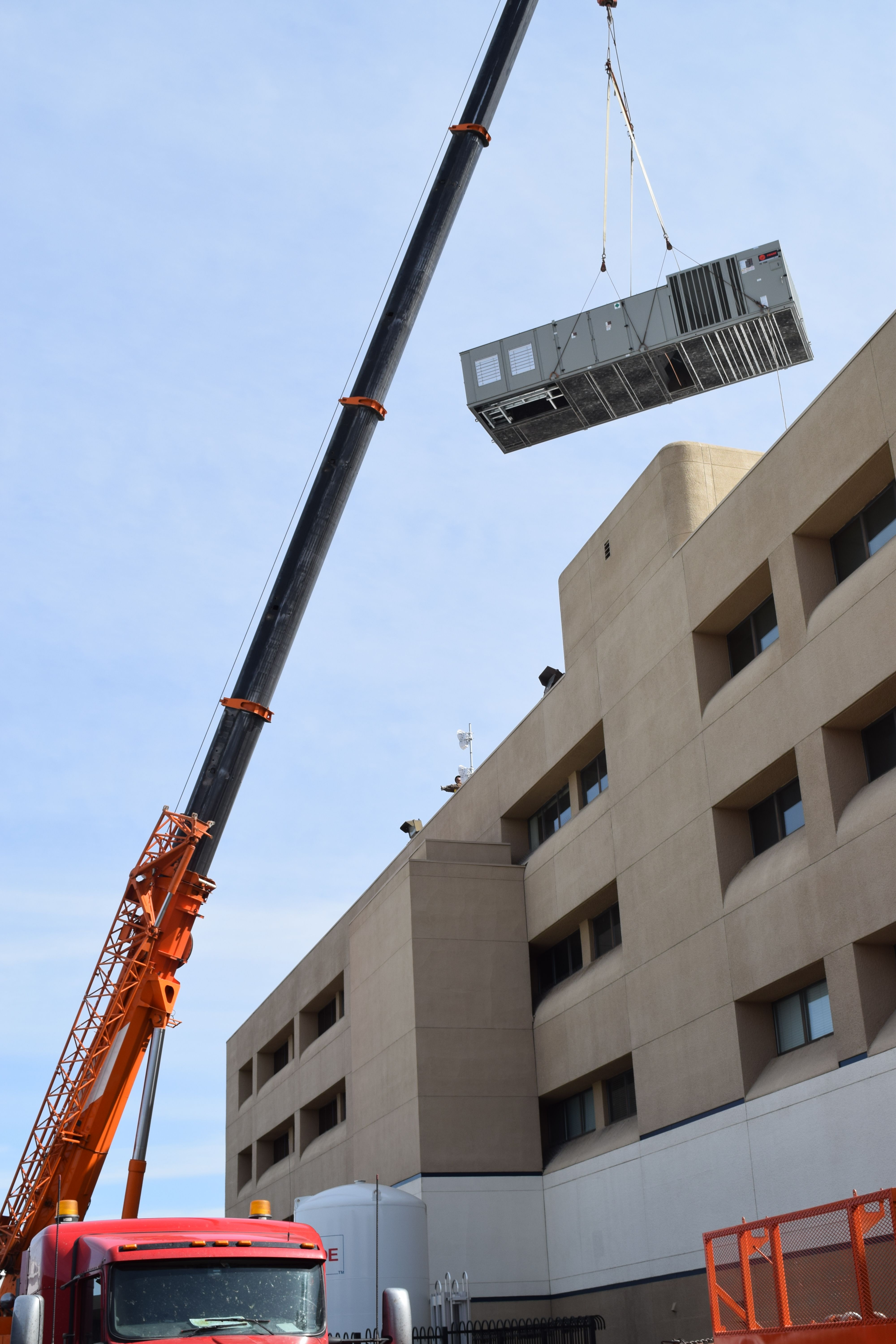 We set a 75 ton Trane Unit at the 700 Shadow Lane Medical