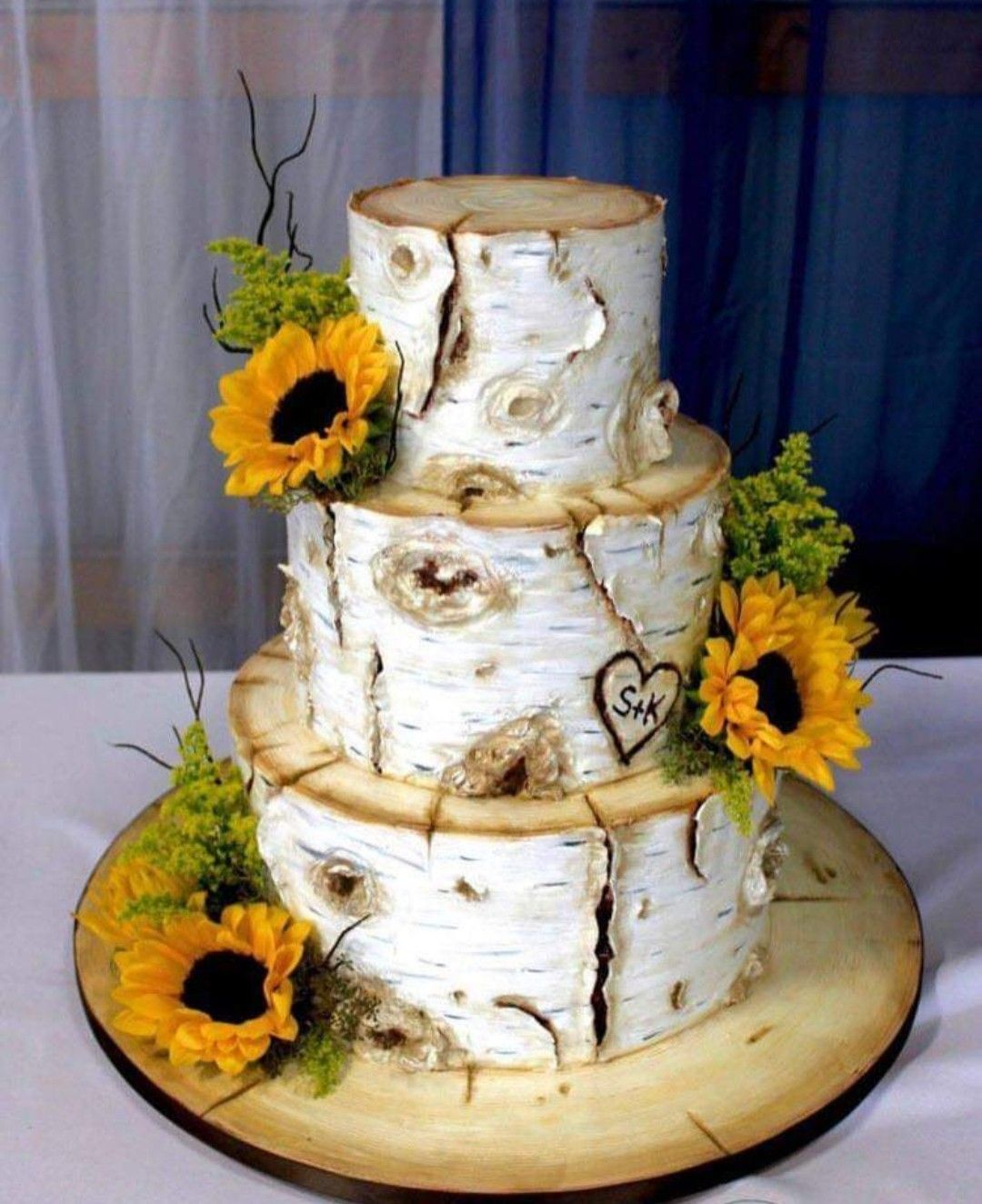 Sunflower Wedding Cake Idea Country Wedding Rustic Wedding