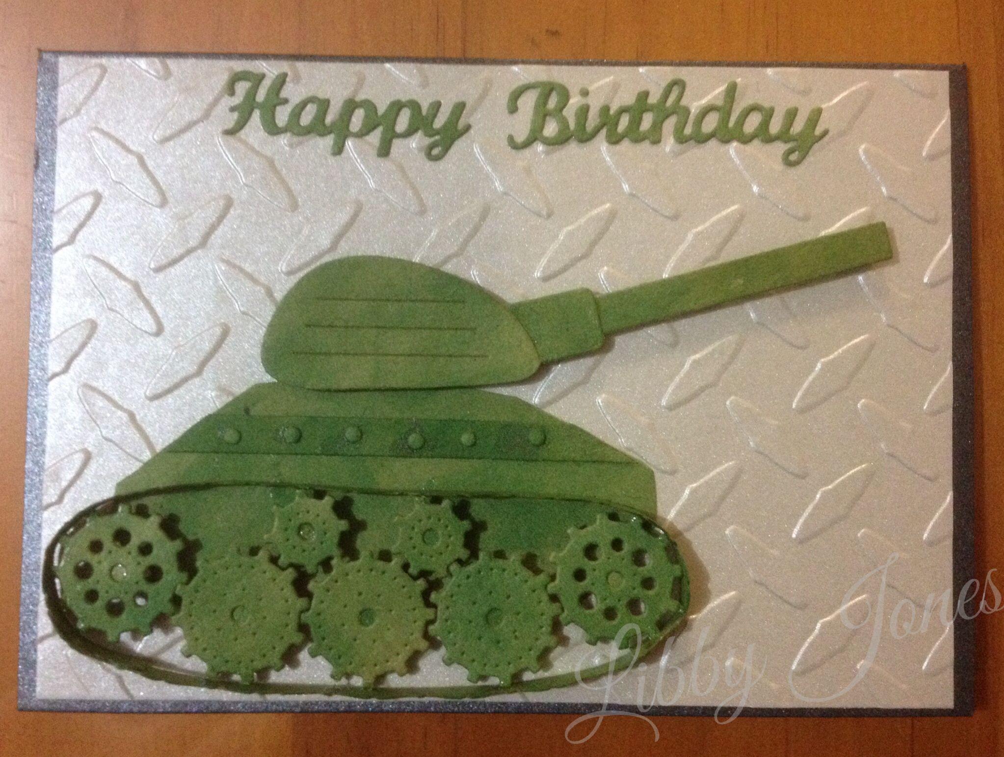 Army Tank birthday card libjj Cards libjj – Army Birthday Cards