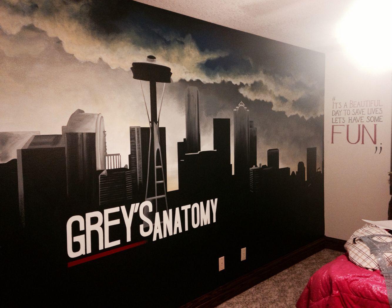 Greys Anatomy mural   Mindy\'s Murals   Pinterest   Grays anatomy ...