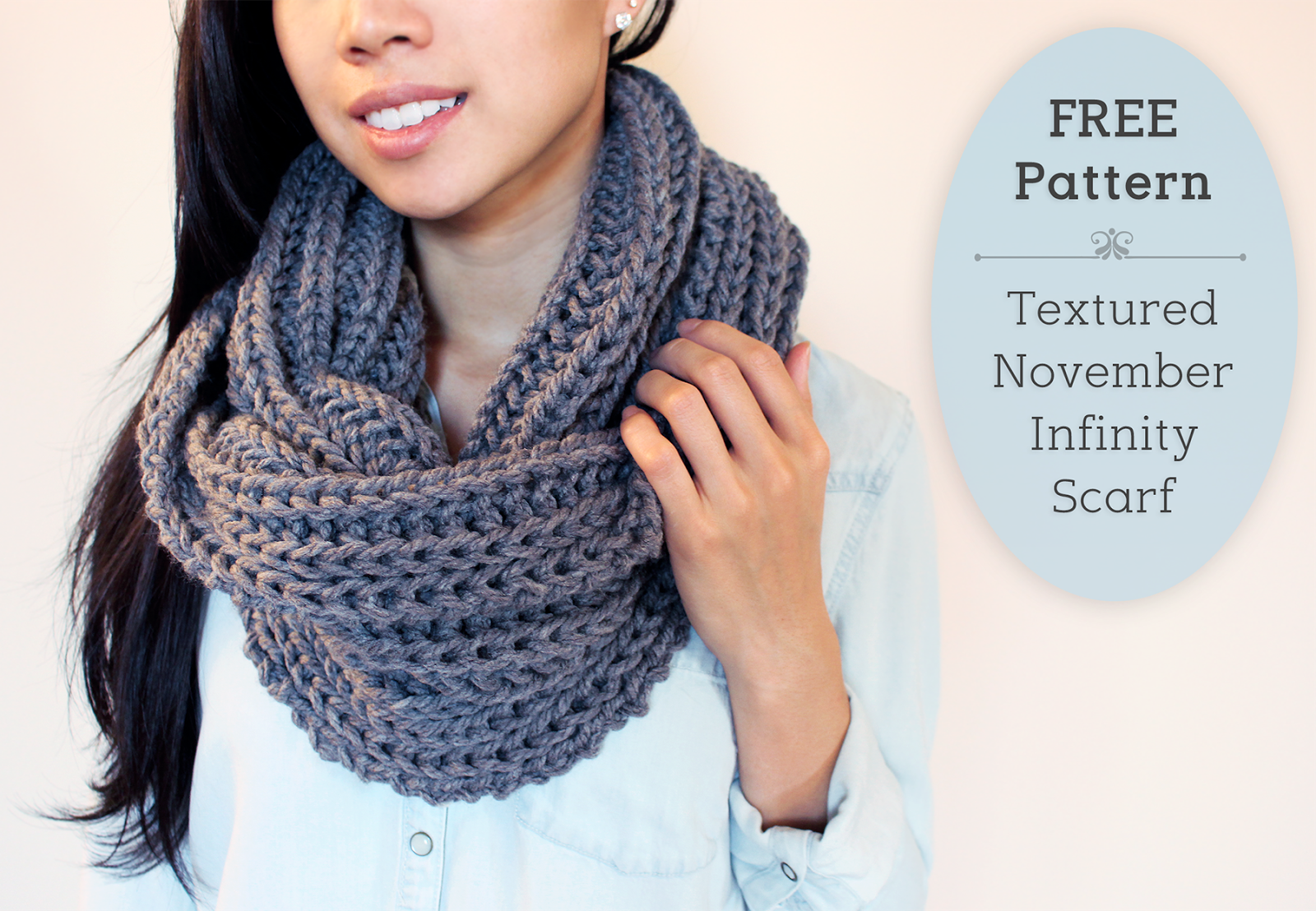 Chunky knit infinity scarf free pattern easy beginner chunky knit infinity scarf free pattern easy beginner knitting project knitting crocheting pinterest beginner knitting projects free dt1010fo