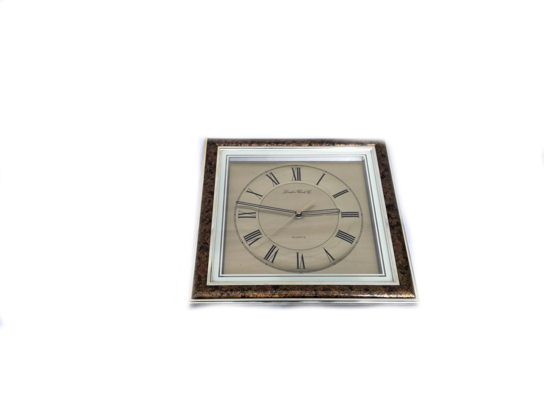 Vintage Wall Clock 90s Square Clock London Clock Company