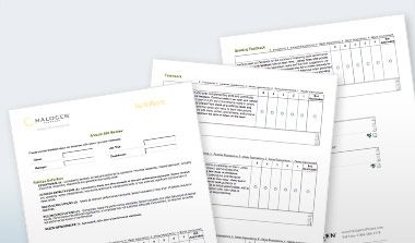 Get Sample  Degree Feedback Forms Created With Halogen E