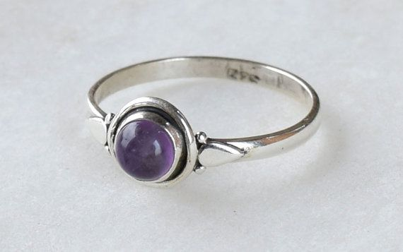 Amethyst Ring Sterling Silver Ring Amethyst by jewellerypalacee