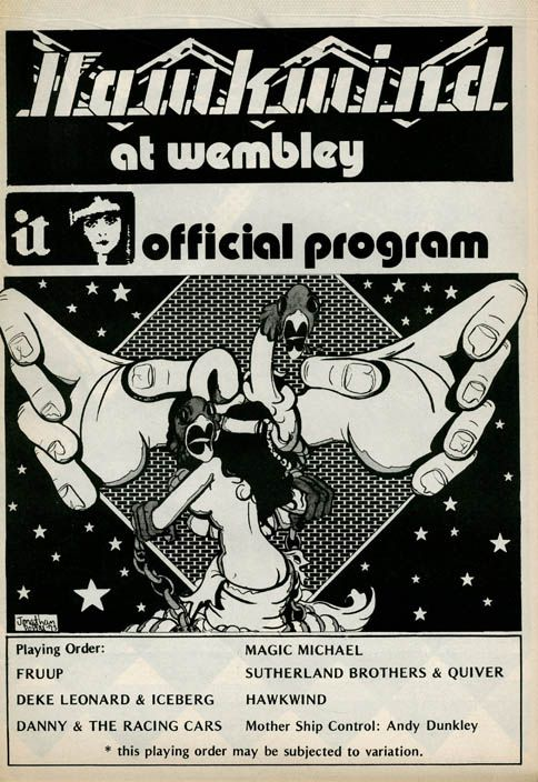 27 May 1973, Wembley Empire Pool, Fruup, Deke Leonard + Iceberg