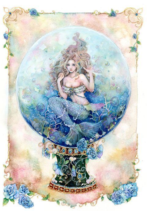 人魚姫 Aco のイラスト Pixiv 人魚の写真 イラスト 魚 絵