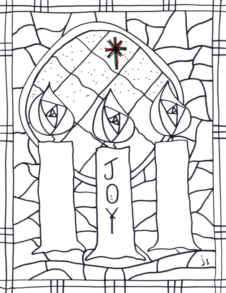 Advent 3 coloring page