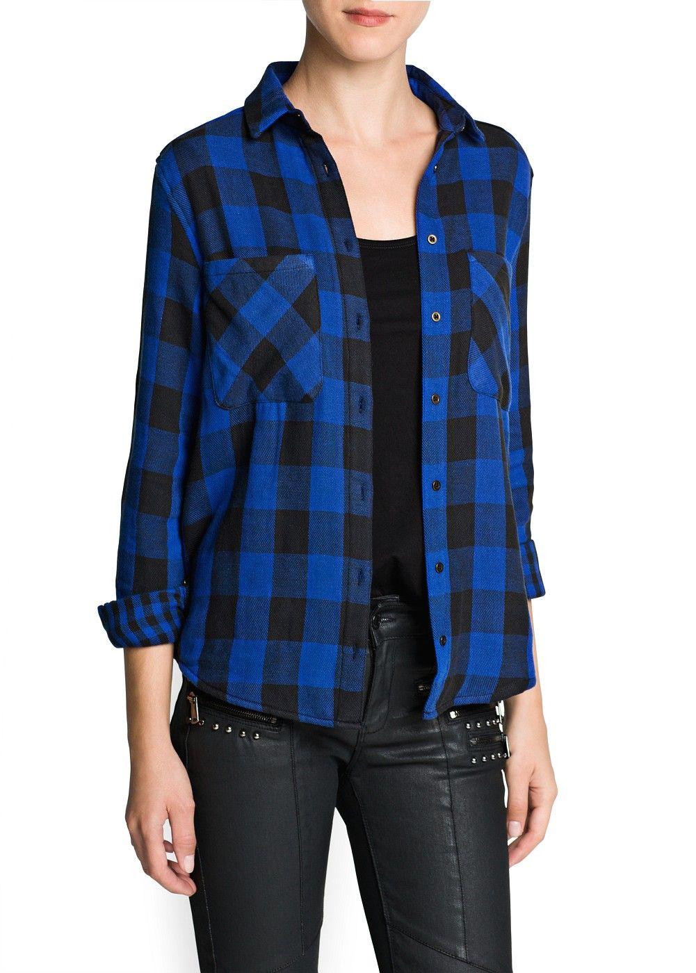 Camicia cotone quadri - Cardigan e pullover da Donna | OUTLET