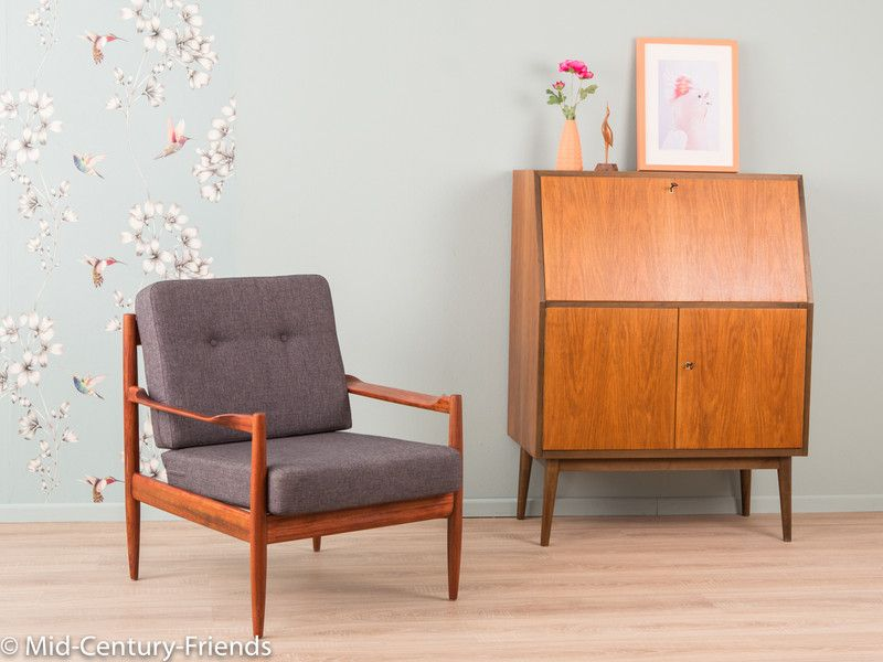 vintage sessel teak 60er sessel 50er vintage ein designerst ck von mid century friends bei. Black Bedroom Furniture Sets. Home Design Ideas